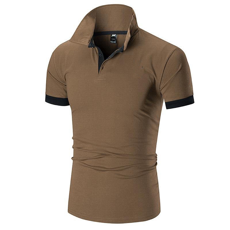 Brand Mens Casual Embroidery Polo Shirt Men Short Sleeve High Quantity