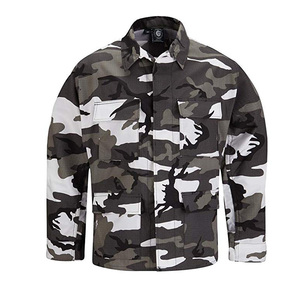 BDU US Urban digital camouflage army camo Rip stop BDU Militar Tactical polycotton Men's Combat Uniforms