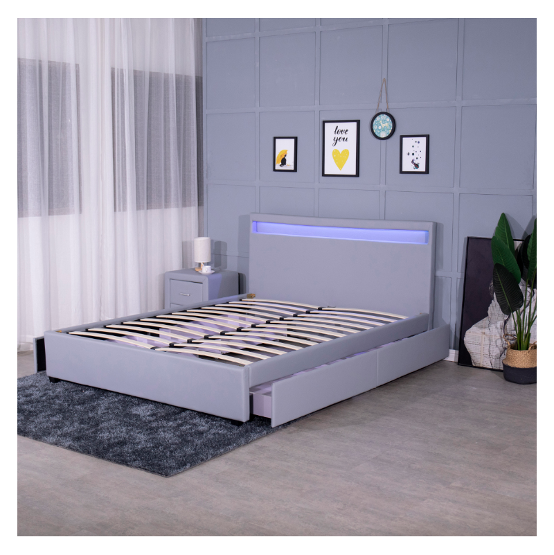 Wooden Canopy Bed Frame Carved Acrylic American Metal Base Furniture Antishake Tool Assembly Center Support Lift Mechanism