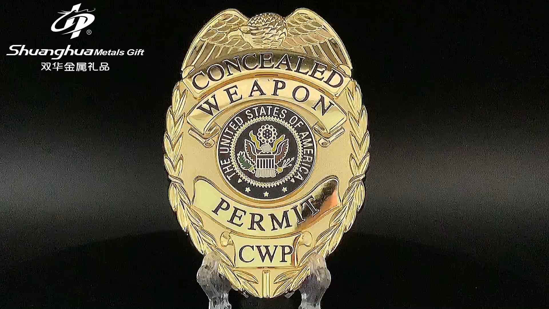 Custom enamel logo cheap metallic security military pin badges