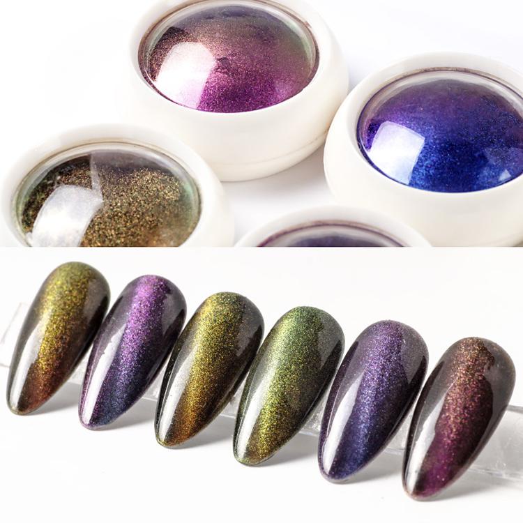 Magic เลเซอร์ผล glitter nail art 5d cat eye เล็บเล็บแม่เหล็ก 5d cat eye nail art powder
