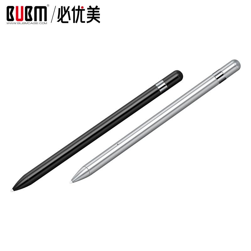 BUBM 2020 Custom Usb Isi Ulang Aktif Jarum Piringan Hitam Pena Layar Sentuh dengan Kotak Stylus untuk iPad atau Tablet Pintar Pensil