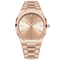 2020 New Watch Design Fashion Stainless Steel Japan Quartz Luxury Rose Gold Wrist Waterproof Women Watches