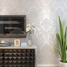 Нетканые 3D флокированные уплотненные золотые обои для гостиничной комнаты, спальни, обои с тиснением, декоративные обои(Китай)