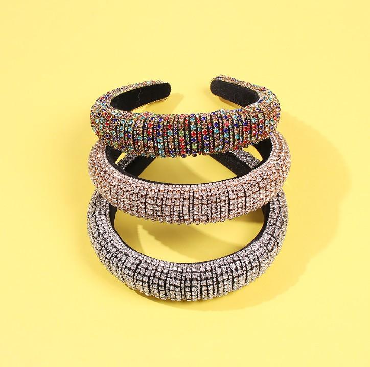 Fashion Headband for Women Wool Knitted Hairband With Diamond