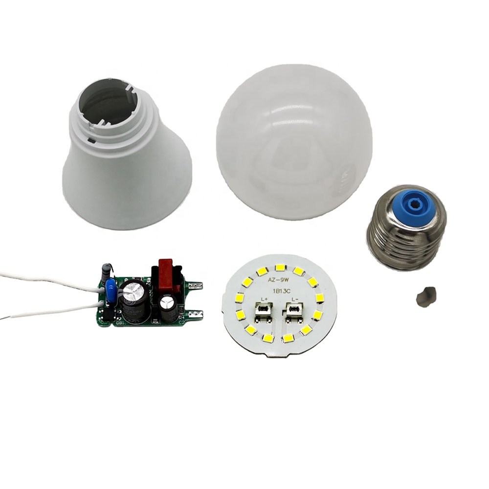 Top class smd 220v A60 e26 e27 b22 9 watt making machine manufacturer spare parts prices list lights raw material led bulb skd