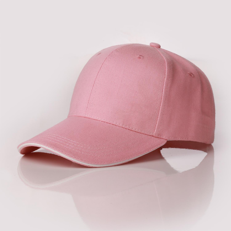 Customized High quality wholesale custom 6-panel plain dyed baseball sport cap with sandwich-like visor