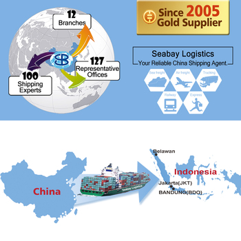 china sea freight forwarder shipping cost to indonesia from shenzhen guangzhou shanghai ningbo dalian tianjian qingdao