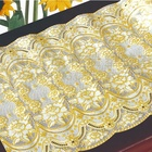 1.5mm Thick Clear PVC Table Cover Flower-Lace Table Cloth for Sale