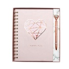 2020 New Design Luxury Rose Gold Foil Notebook And Pen Set, Custom Printing Office Stationery Gift Set For Girl