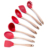 BPA Free Non Toxic Kitchen Accessories 7 Pcs Bamboo Silicone Utensils Cooking Utensil Set