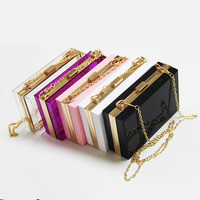 Good Quality Clear Acrylic Clutch Bag Women Cute Handbag Stadium Approved Crossbody Evening Ladies Purse Factory Price