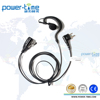 G shape Walkie Talkie Mini Earpiece with Mic for SRH3800/SRH3900