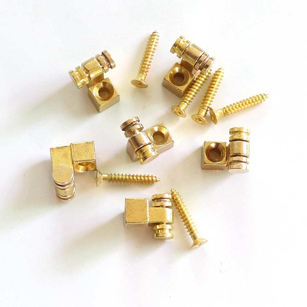 Musical Instruments Gold Color Metal Guitar String Retainer Tree Roller style Guitar Parts Accessories