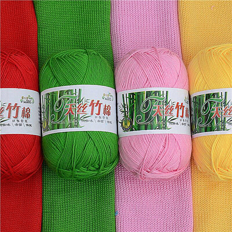Big sale high quality dyed baboo cotton crochet baby milk yarn for knitting sweater