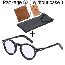 Круглая Ретро Маленькая ацетатная оправа, оптическая оправа для очков, очки с прозрачными линзами, оправа для женщин и мужчин, очки для близ...(Китай)