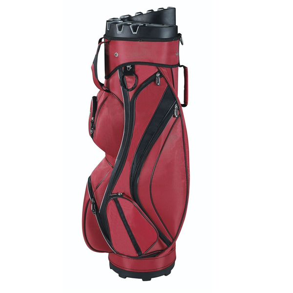 Burgundy 14 ways divider majestic custom golf cart bag