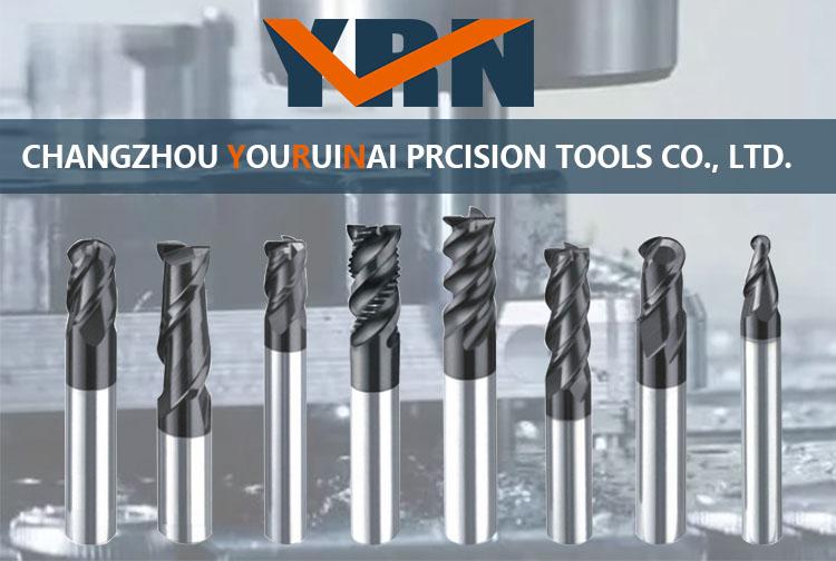 YRN CNC End Mill Cutter Per Sgrossatura 3 Flauto In Metallo Duro Frese