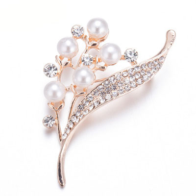 Exquisite Luxury Wholesale Valentines Gift Bridal Flower Shape Crystal Rhinestone Brooch Women