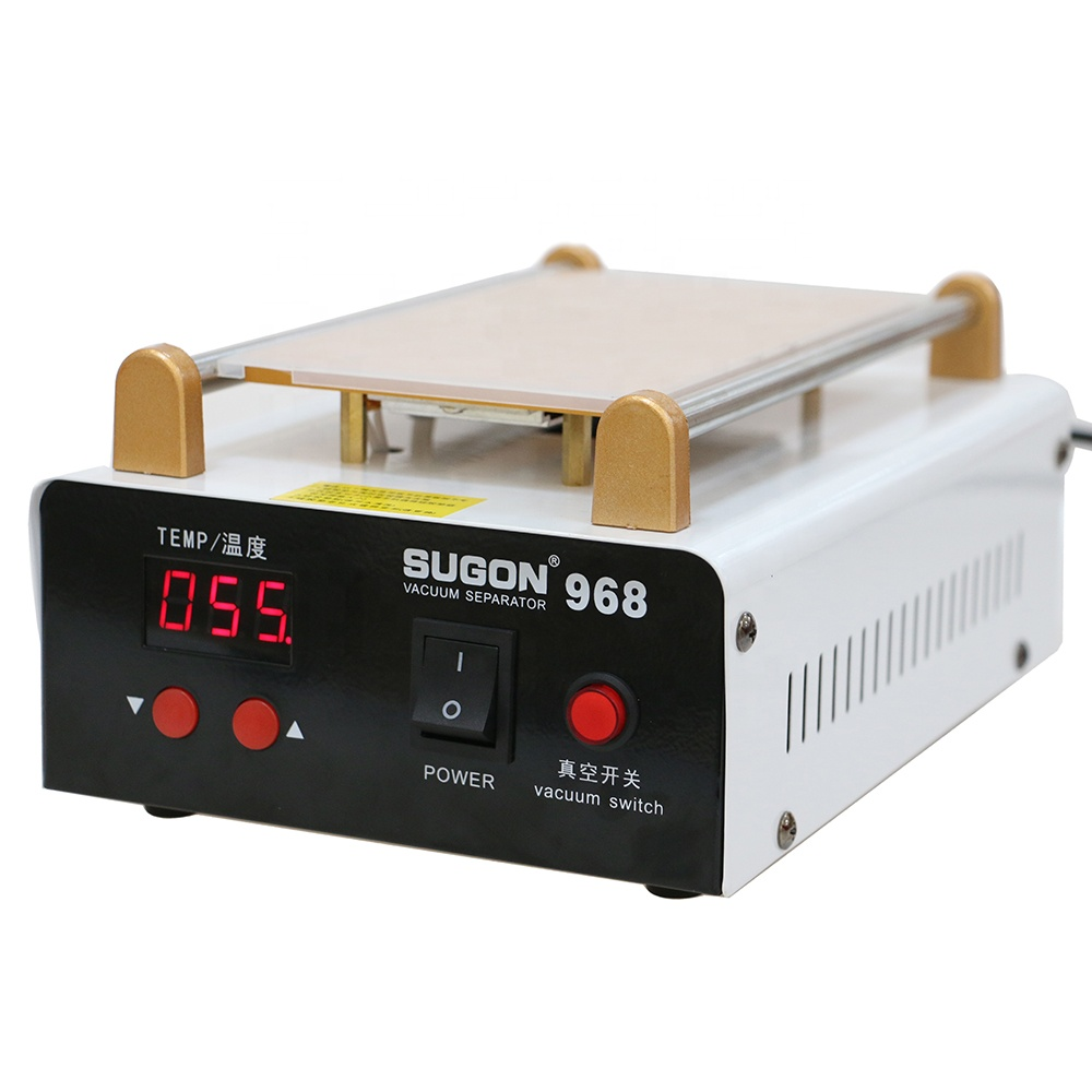 SUGON 968 Build-in Vacuum Pump Glass Separating Hot Plate LCD Separator Machine for Cellphone