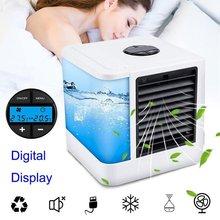 Портативный мини-увлажнитель воздуха с ЖК-дисплеем и USB, 7 цветов, светильник, настольный вентилятор для охлаждения воздуха, охлаждающий вен...(Китай)