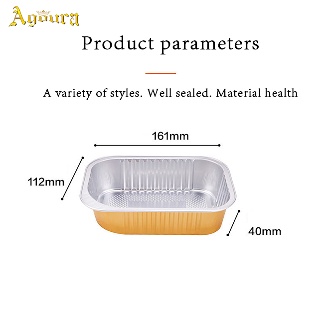 Wholesale environmentally friendly degradable material aviation tin foil aluminum lunch box