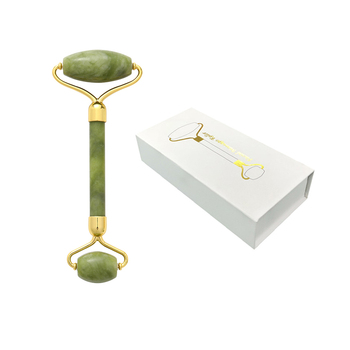 Amazon Hot Sale Jade Roller With Package Box Natural Jade Facial Massage Roller Green Jade Face Massage Roller