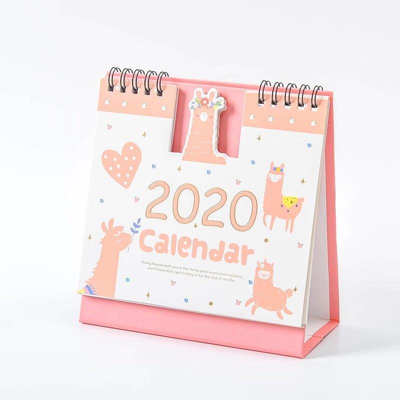 Милый календарь 2020 розовый мультяшный Настольный календарь креативная программа 2020 расписание ежедневный Еженедельный ежемесячный плани...(Китай)