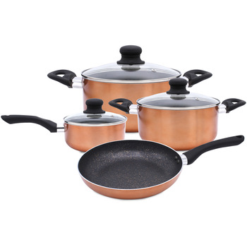 7PC Cookware Set Marble Coating Induction Cooking pot
