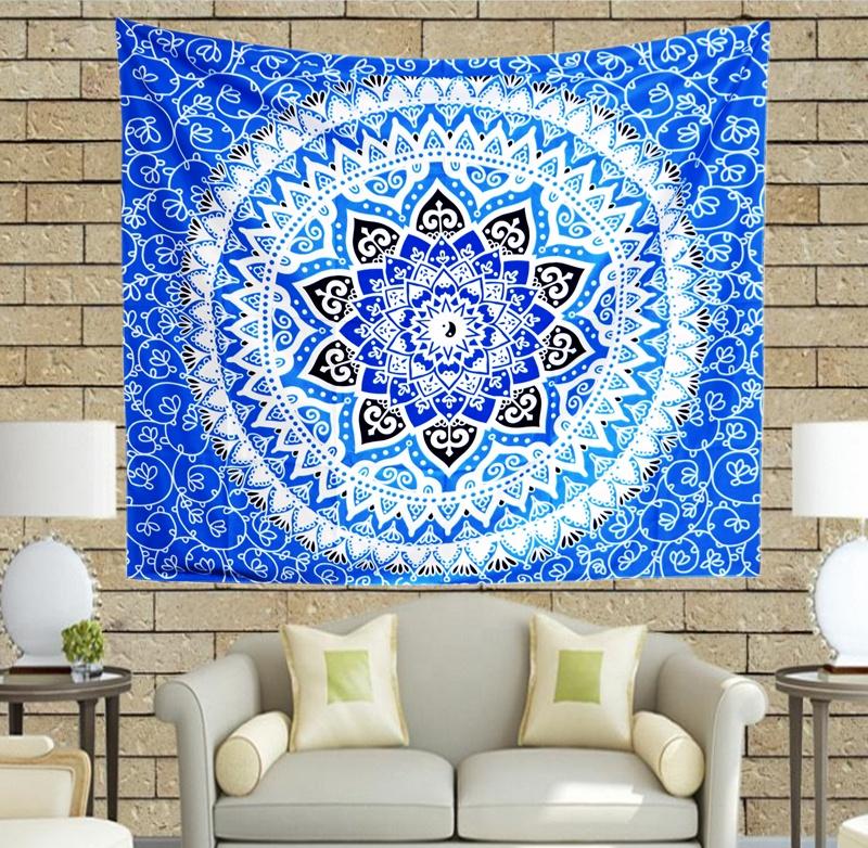 Hot Sale OEM Custom Mandala Wall Hanging Tapestry  Decoration