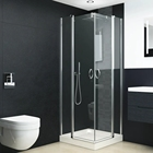 Shower Cm ROYO 4mm Clear Glass Chrome Framed Square Pivot Shower Enclosure Cabin 80x80x195 Cm