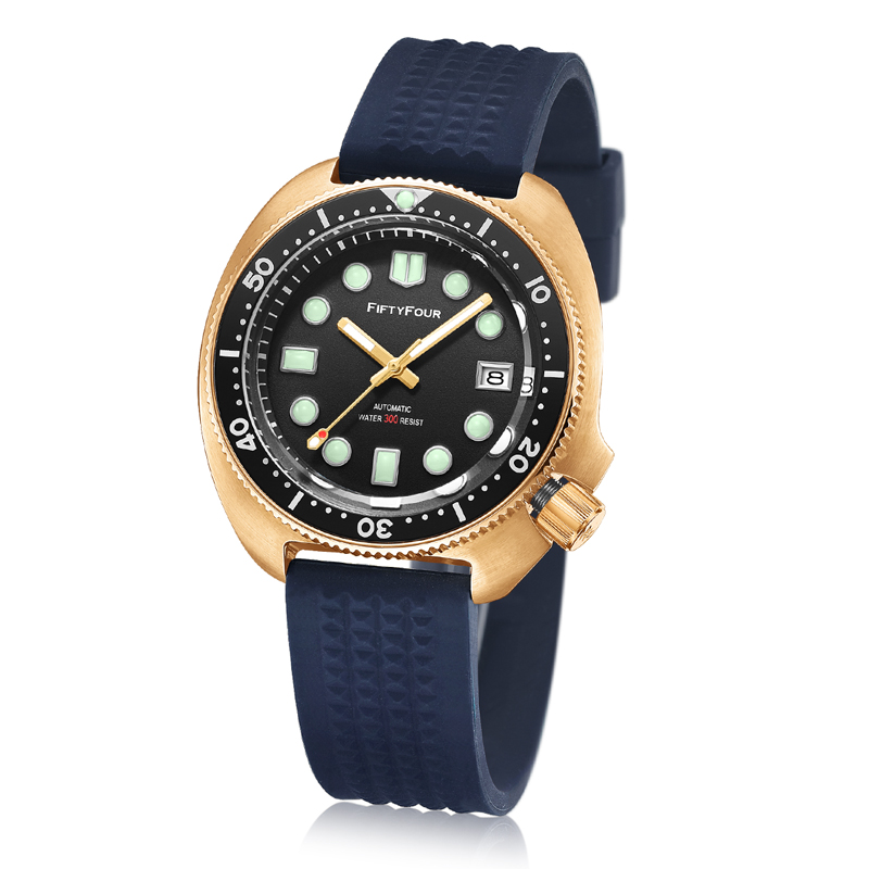 Bronze watch 61058110 turtle <strong>case</strong> 1976 6309 diver watch vintage timepiece 44mm without crown FIFTYFOUR Vintage diver watch