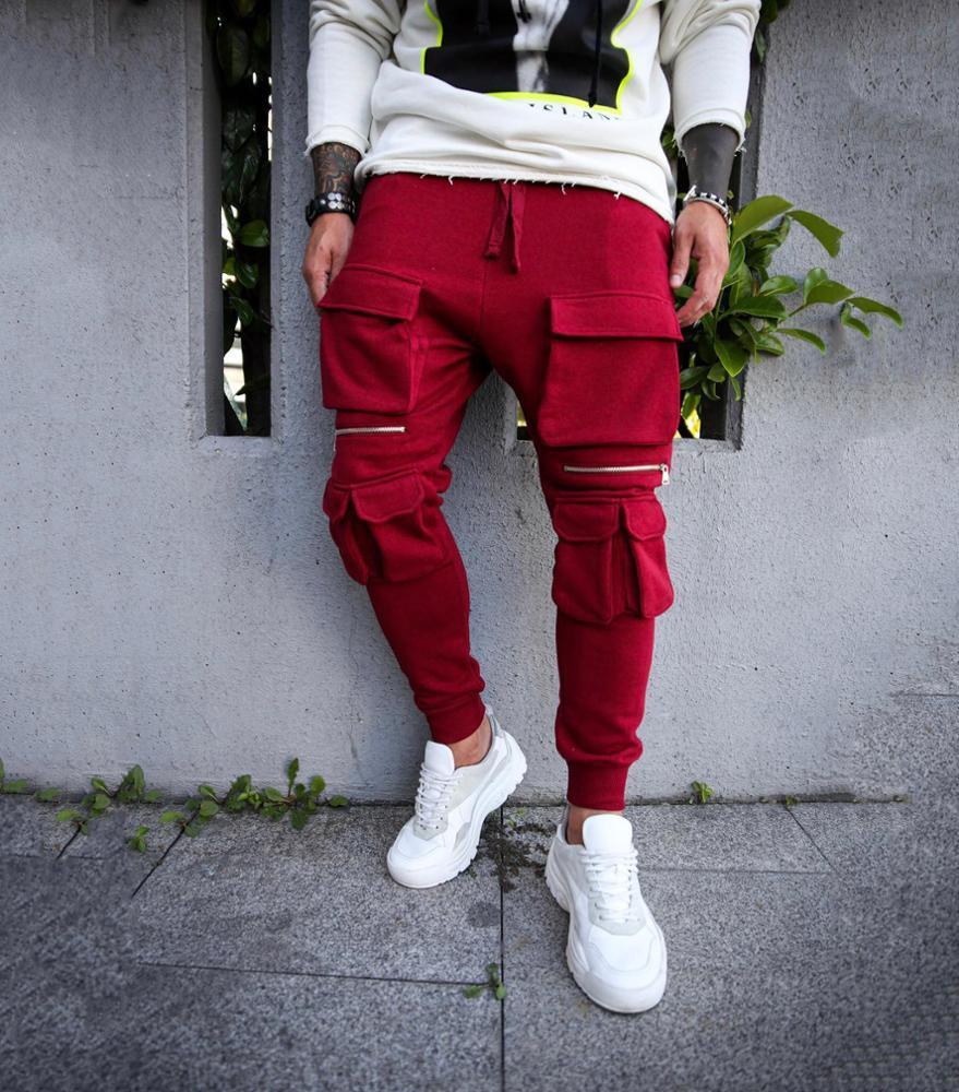 XJYD Hot Sale Men's Clothes men khaki trousers Streetwear Jogger Pants Sweatpants Unique Design Custom Pants