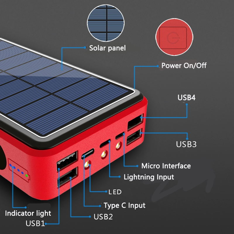 Outdoor Trekking Emergency New Products Phone Solar Battery Charger