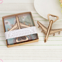 Plane Shape European Style Metal Bottle Opener Wedding Favors Gifts for Guests