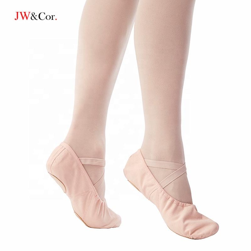 JW OEM & ODM детские мягкие танцевальные балетки на заказ для девочек