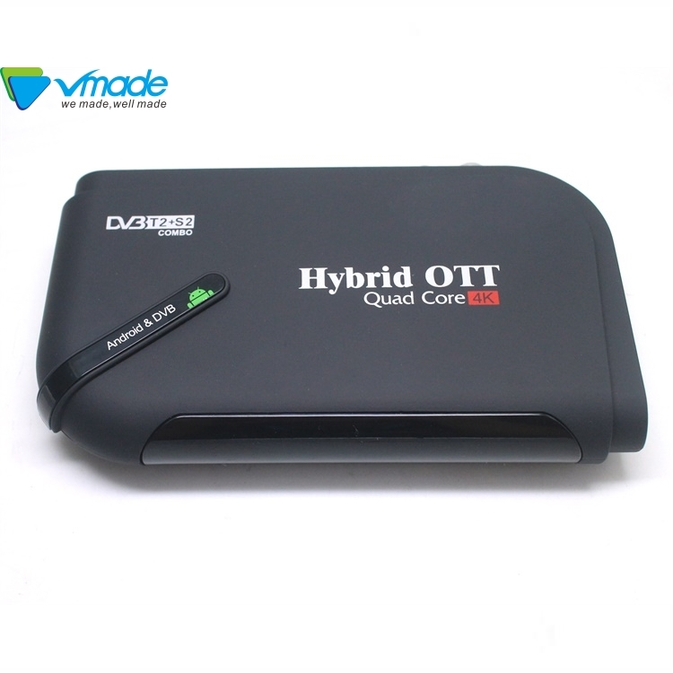 Distintivo OTT DVB T2 S2 combo decodificador receptor S905D 7,1 HD Android red decodificador