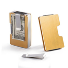 Logo Customization Money Wallet Credit Card Clip RFID Money Clip Wallet Aluminum Credit Card Wallet