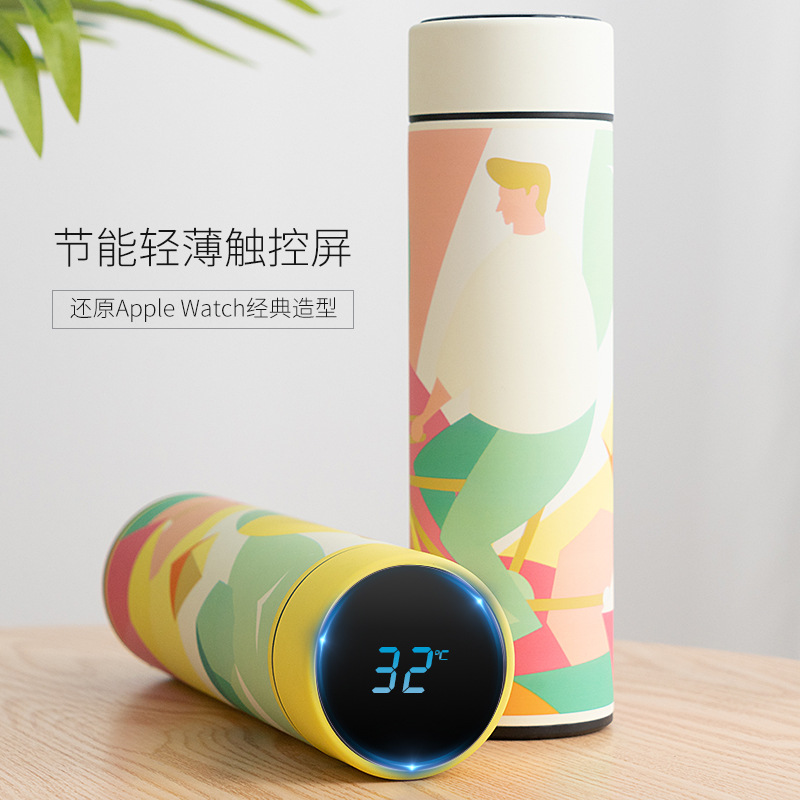 New style Temperature Display Fashion Smart Thermos Cup Stainless Steel Vacuum Cup