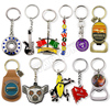 manufacturer wholesale custom cheap personalised 3d metal bottle opener keyring