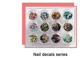 À la mode auto dernière beauté d'art de clou fournisseur mignon petit gâteau motif art conceptions ongles autocollant