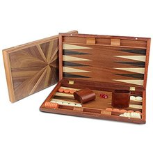 Tragbare Reise Klapp <span class=keywords><strong>Fall</strong></span> 17 zoll holz <span class=keywords><strong>backgammon</strong></span> board set