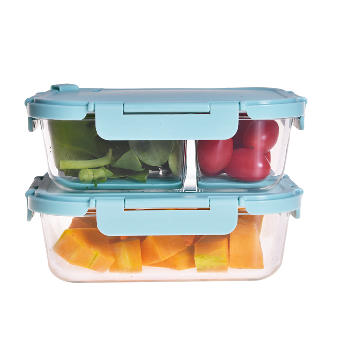 Microwave and oven safe glass meal prep containers one size