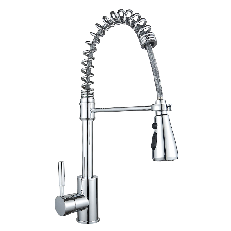 Pull down <strong>faucet</strong> with <strong>spring</strong> for <strong>kitchen</strong> sink