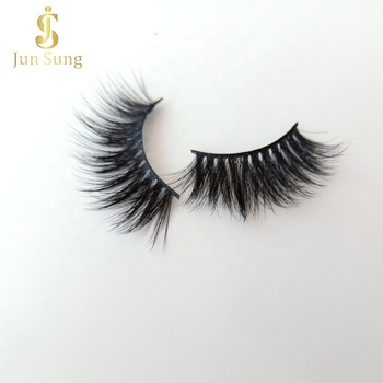 Private Label Your Own Brand Box Full Strip 3d Faux Mink Clear Band Eyelashes