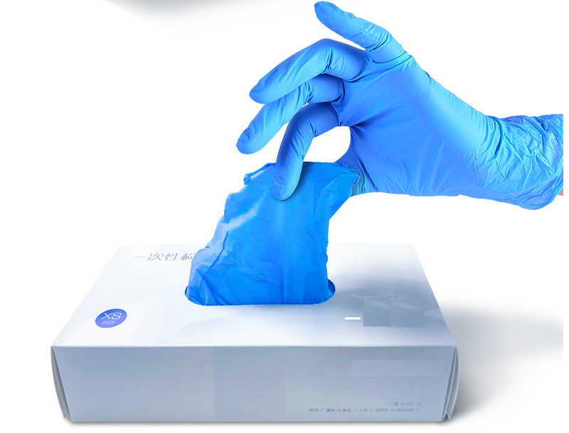 Eco-friendly Ultra-thin finger pitting surface Disposable nitrile protective gloves