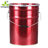 0.38mm Thick Printed 20L Tin Can with Recyclable Lid for Coatings