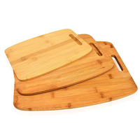 Set of 3 Premium Kitchen Bamboo Chopping Wooden Cutting Board Set