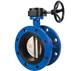 "de90mm 3"" kitz flexible double flange connection iron cast manual butterfly valve for water"