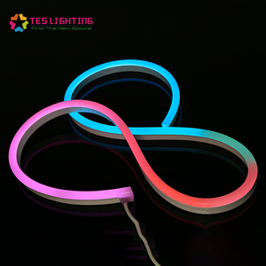 Changeable Silicone 24V DMX Pixel Neon Light Strip IP68 Waterproof Flex Neon LED Rope